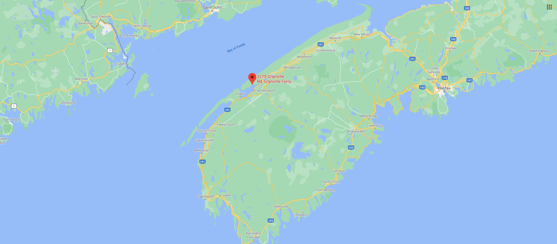 Map to Hook DM Canada